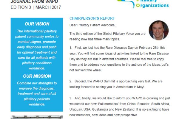 THE GLOBAL PITUITARY VOICE – EDITION 3, MARCH 2017